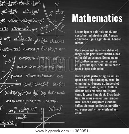 Abstract Math School Background With Copy Space