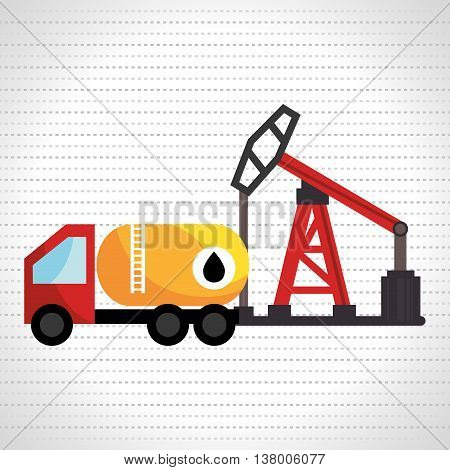 truck with petroleum isolated icon design, vector illustration  graphic