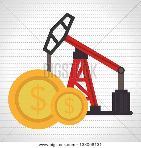 oil and currency isolated icon design, vector illustration  graphic