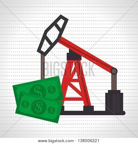 oil and bills isolated icon design, vector illustration  graphic