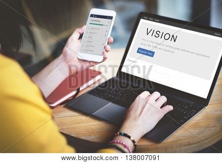 Vision Planning Business Inspiration Mission Concept