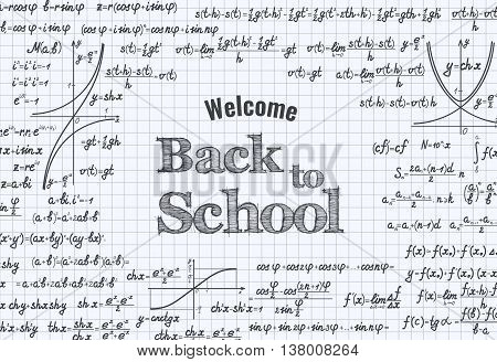 Back To School Vector Education Background