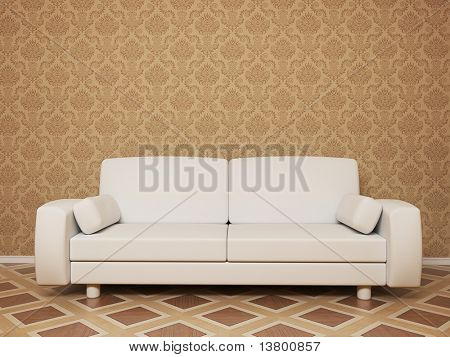 3d Render Of Empty Room With Sofa - More Variations In My Portfolio