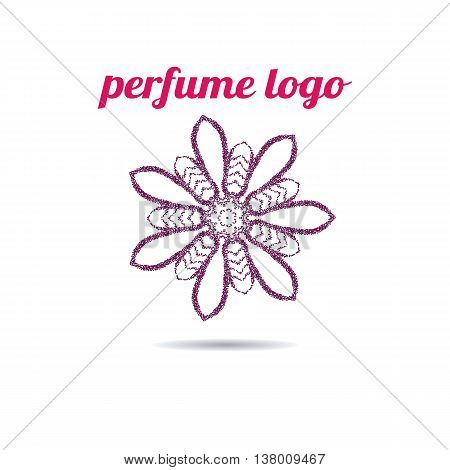 Woman's perfume logo. I. Use for perfume shop advertising, window signage, web sites, store emblem, icon. Vector design element.