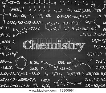 Welcome Back To School With Formula On Blackboard.