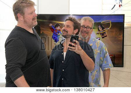 John DiMaggio, Will Friedle and Gary Miereanu at the premiere of