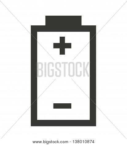 poles Battery status isolated icon design, vector illustration  graphic