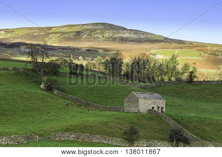 View in the Yorkshire Dales National Park England