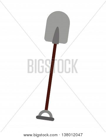 gardening shovel isolated icon design, vector illustration  graphic