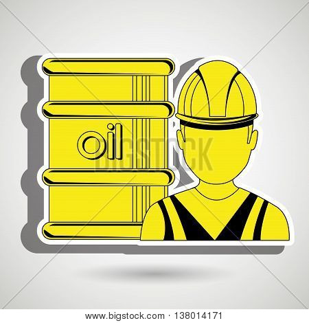 man and petroleum isolated icon design, vector illustration  graphic