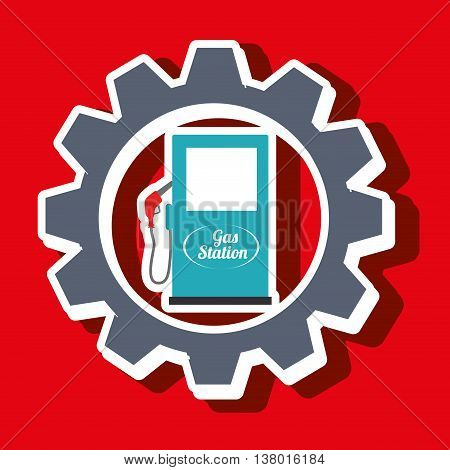 signal of gasoline isolated icon design, vector illustration  graphic