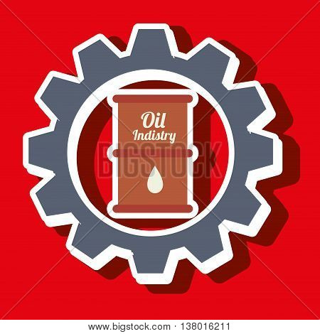 signal of barrel oil isolated icon design, vector illustration  graphic