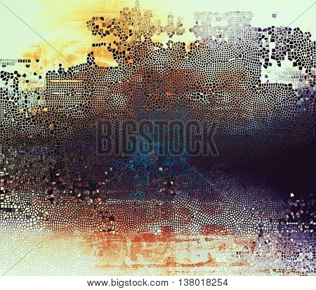 Veined grunge background or scratched texture with vintage feeling and different color patterns: yellow (beige); brown; blue; cyan; red (orange); white
