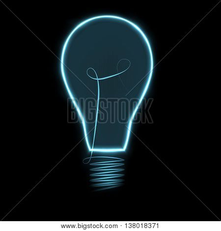 Fully vector background with plasmatic light bulb