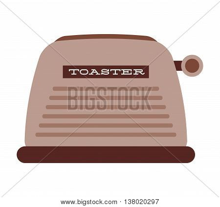 bread toaster isolated icon design, vector illustration  graphic