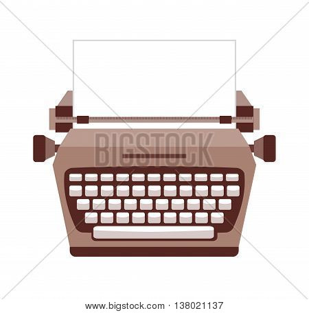 typewriter  isolated icon design, vector illustration  graphic