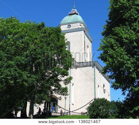 Suomenlinna fortresss island is a landmark of Helsinki, Finland.