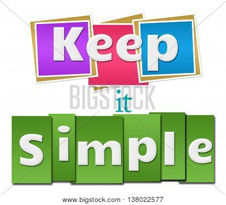 Keep it simple text written over colorful background.