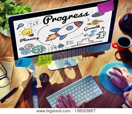 Progress Innovation Improvement Advance Growth Concept