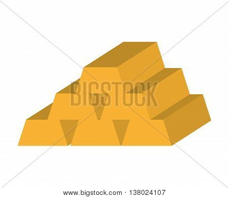 gold ingot isolated icon design, vector illustration  graphic
