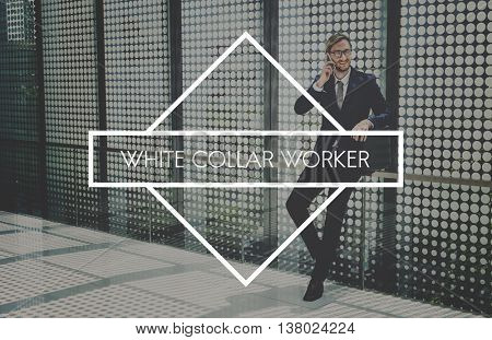 White Collar Worker Business Company Success Concept