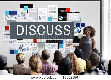 Discuss Discussion Negotiation Talking Debate Concept
