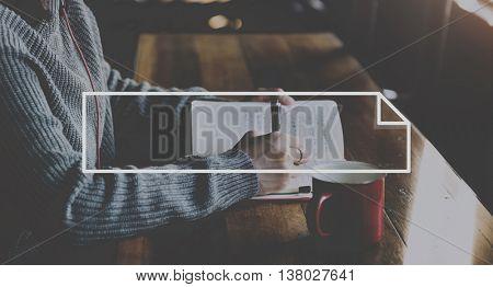 Female Creative Writing Ideas Frame Graphic Concept