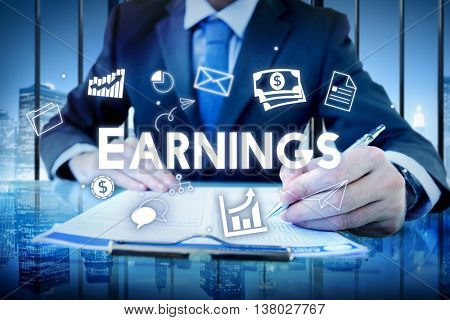 Profit Earnings Income Financial Economy Proceeds Concept
