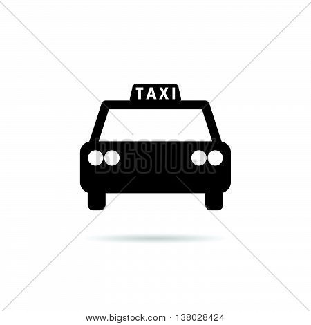 taxi icon in black color illustration on white