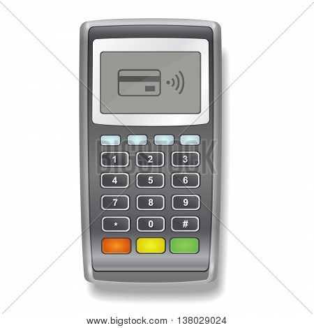 POS Terminal realistic illustration on a white background vector