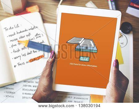 Ebook Reading Digital Learning Modern Concept