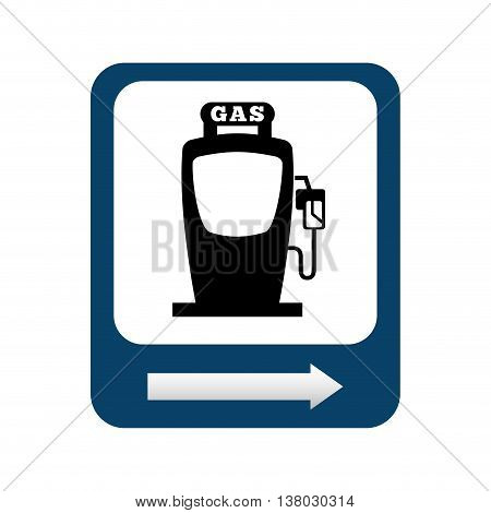 gasoline pump isolated icon design, vector illustration  graphic