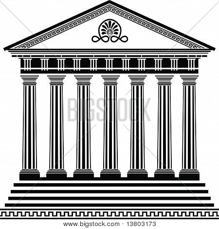Greek temple stencil second variant