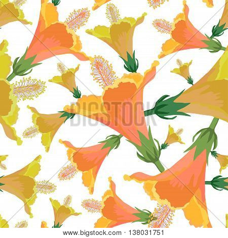 Seamless tropical patter.Colorful vector summer print.Textile texture