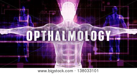 Opthalmology as a Digital Technology Medical Concept Art 3D Illustration Render