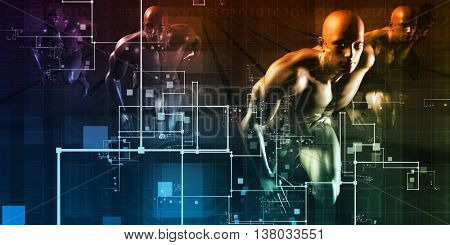 Science Fiction Futuristic Abstract As a Art 3D Illustration Render