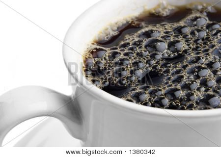 Cup Of Coffee With Bubbles