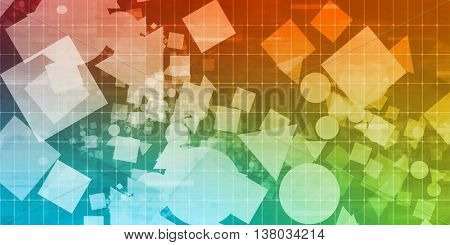 Web Design Background with Basic Shapes as Concept