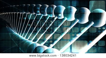 Futuristic Science Concept in Medical Research Industry 3D Illustration Render