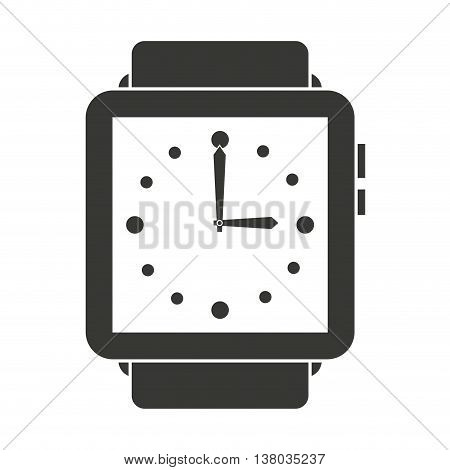 elegant wristwatch isolated icon design, vector illustration  graphic