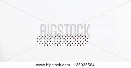 a one of white plastic honeycomb background