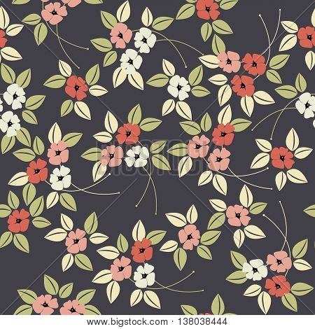 Elegant stylised seamless poppy flower pattern can be used for surface textures, textile, kids cloth, pattern fills, web page backgrounds and more creative designs.