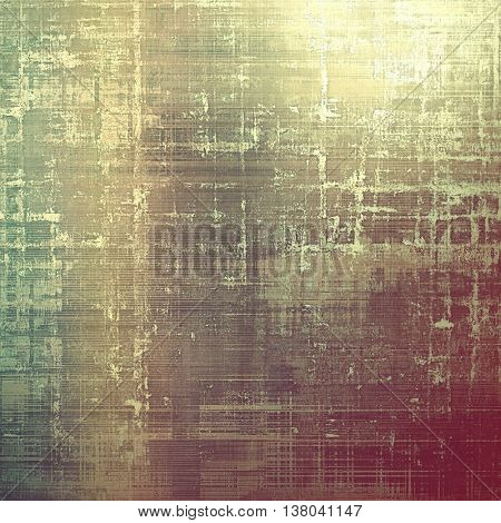 Old grunge vintage background or shabby texture with different color patterns: yellow (beige); brown; green; gray; purple (violet); pink