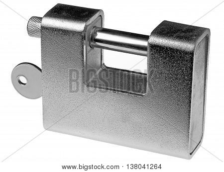 Solid satin lock with hardened steel piston