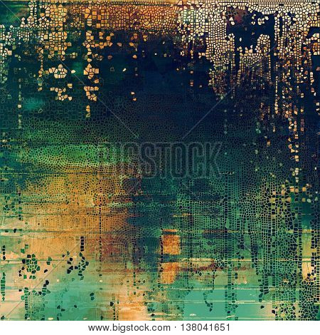 Scratched grunge background or spotted vintage texture. With different color patterns: yellow (beige); brown; green; blue; cyan; gray