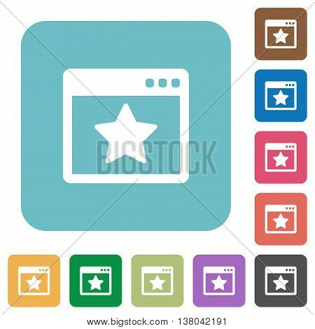 Flat favorite application icons on rounded square color backgrounds.