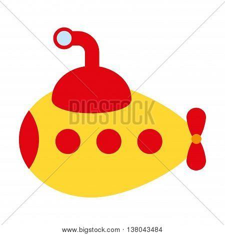 submarine toy isolated icon design, vector illustration  graphic