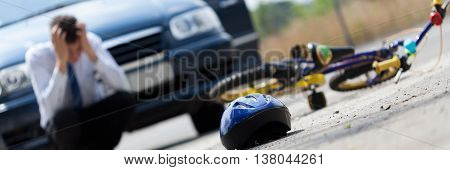 Scared Driver After Accident