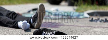 Scene Of A Car Crash
