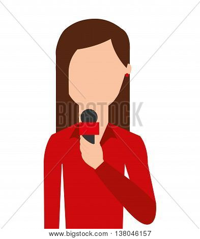 news reporter isolated icon design, vector illustration  graphic